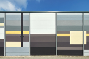 Für die gelungene Farbgestaltung des tristen Rasters einer Porenbetonhalle in Hannover gab es in der Kategorie Industrie- und Gewerbebauten einen 2. Preis