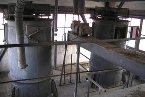 Förderaggregate im Silo vor Beginn der Sanierungsarbeiten<br />
