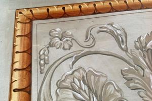 Rekonstruktion eines Ausschnittes einer Freskomalerei aus Florenz