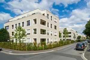 Eines der mehrgeschossigen Wohnhäuser in der Würzburger Brunostraße nach Abschluss der Bauarbeiten<br />Foto: Lisa Farkas