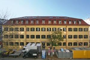 Das denkmalgeschützte Wohnhaus in München Haidhausen kurz vor Abschluss der Sanierungs- und Ausbauarbeiten<br />Fotos: Knauf / Bernd Ducke<br />