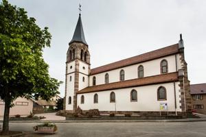 Die Kirche nach Abschluss der Sanierungs- und Umbauarbeiten von außen<br />