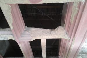 Schäden am Sandstein der Kreuzstockfenster