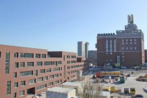 Auf dem ehemaligen Gelände der Unionbrauerei haben sowohl das Robert-Schuman- als auch das Robert-Bosch-Berufskolleg Platz