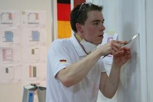 Weltmeister Andreas Schenk mit großer Präszision bei der Arbeit am Samstag kurz vor Abschluss der WorldSkills in Leipzig