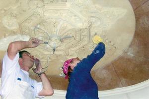 Restaurierung historischer Stuckarbeiten in einer Bürgervilla<br />