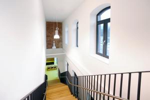 Von innen gedämmt: Treppenhaus des alten Bahnhofsgebäudes <br /><br /><br />