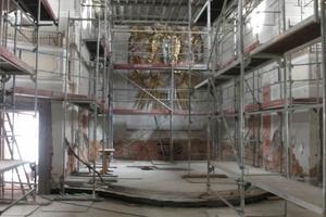 Sanierungs- und Restaurierungsarbeiten im Kirchenschiff<br />