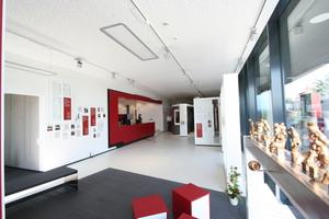 Blick in das neues Gebäude für die Produktpräsentation von TMP in Bad Langensalza