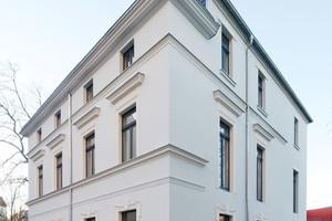 In der denkmalgeschützten Leipziger Jugendstilvilla bauten die Handwerker eine in Gipsplatten integrierte Flächenheizung ein