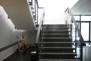 Noch im Original erhalten: das Treppenhaus aus den 1970er Jahren<br />