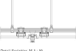 Detail Sprinkler, Maßstab 1:10