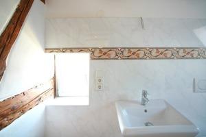 Selbstverständlich wurden auch in den als Bad genutzten Räumen die Innenseiten der Außenwände gedämmt<br />