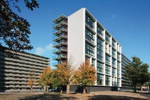 """Nur das Hochhaus """"De Valk"""" ist der einzige der insgesamt sechs Zehngeschosser, der in Zevenhuizen saniert erhalten bleibt<br />"""