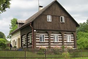 Umgebindehaus im tschechischen Teil des Dreiländerecks Polen-Tschechien-Deutschland<br />Foto: Thomas Wieckhorst <br />