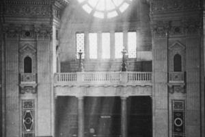 Der im Zweiten Weltkrieg zerstörte imposante Lesesaal der größten Universalbibliothek Deutschlands