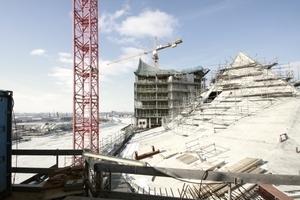 Philharmoniedach: Unter dem Betonzelt liegt der Konzertsaal<br />