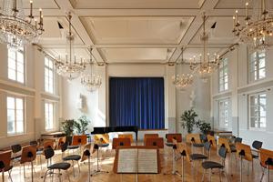Nach Abschluss der fachgerechten Restaurierung steht der historische Konzertsaal wieder für Veranstaltungen der Musikschule Moers zur Verfügung<br />