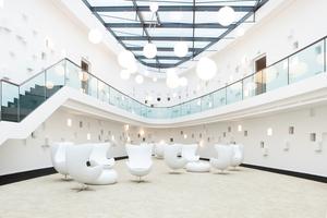 Für das elliptische Atrium im Hotel Schloss Montabaur erhielt die G+K Trockenbau GmbH den Weltmeistertitel<br />