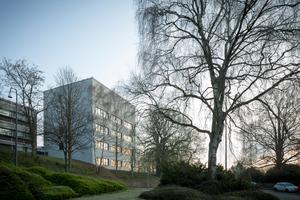 Gebäuderückseite des Chemiepraktikums in Aachen<br />