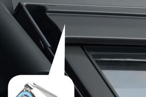 Velux Balanced Ventilation, ein selbstregulierendes Lüftungselement, wurde in Zusammenarbeit mit dem Lüftungsspezialisten Renson entwickelt
