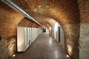Gemauertes Ziegelgewölbe im Keller