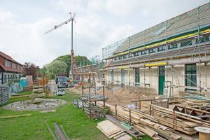Umbau der Scheune, in der ein Museum entstehen soll