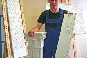 Auch Reliefplatten, Säulen und Kapitelle können auf von der Herbergs Maschine serienmäßig hergestellt werdenFotos: Thomas Schwarzmann