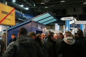 """In Nürnberg war die Knauf """"Werkstadt"""" in der """"Arena"""" beim Stadion zu Gast<br />"""