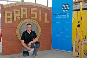 Der 21-jährige Maurergeselle Marco Bauschke ist Teil des Nationalteams des deutschen Baugewerbes
