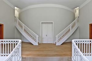 Die vom Tischler rekonstruierten Treppen für die Studenten<br />