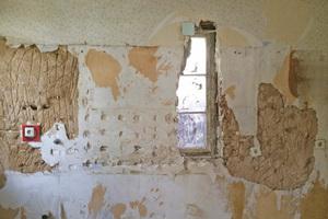 Freilegung eines zugemauerten Fensters