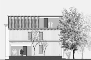 """Mit dem Umbau der so genannten """"Husarenvilla"""" in Potsdam für die Bundesstiftung Baukultur erhält das Gebäude aus dem 19. Jahrhundert moderne Akzente<br />"""