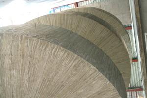 Die Spiraltreppe im Rohbauzustand<br />