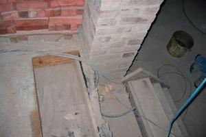 Zugang von der Diele zum oberen Erdgeschoss während der Bauarbeiten<br /><br />