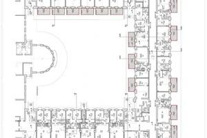 Grundriss Erdgeschoss Haus 1, Maßstab 1:500