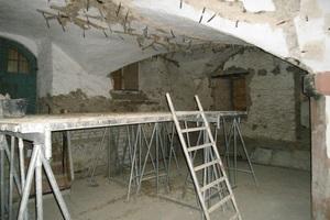 Rissverpressung der Gewölbedecken