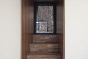 Fenster in der Südfassade, Blick in die Gasse<br />