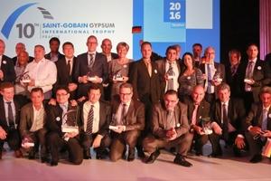 Alle Gewinner der 10. Saint-Gobain Gypsum International Trophy Anfang Juni in Prag