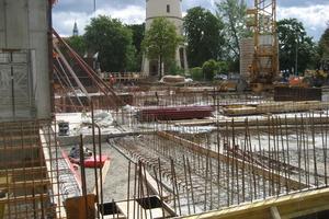 Rohbauarbeiten an den Fundamenten<br />