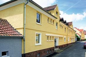 """<div class=""""99 Bildunterschrift_negativ"""">Mit neuer Farbfassung versehen: Häuser in der Kreinberg-Siedlung in Schwerte</div>"""