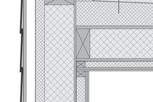 Detail Anschluss Wand / Flachdach<br />