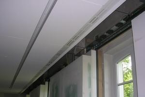Detail Wandanschluss Deckenmontage im Tagungsraum<br />