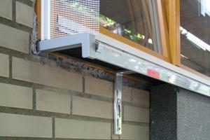 Detail: Anschluss des WDV-Systems an das Fenster<br />