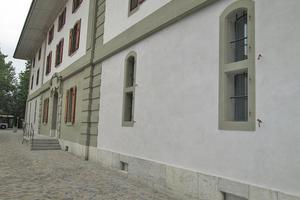 Die Fassade des 1770 in Burgdorf erbauten Kornhauses nach der Sanierung