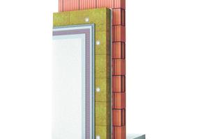 Aufbau<br />1. Mineralwoll-Dämmplatte MW 035 Fassade express oder –Lamelle2. 15 mm Grundputz3. 5-6 mm Armierungslage4. Dünnschichtiger, mineralischer Oberputz5. Mineralischer Anstrich (mit vorheriger Grundierung)