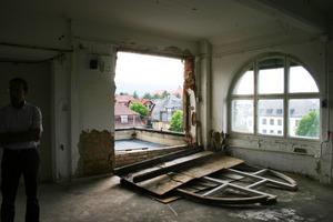 Fensterschäden im vierten Obergeschoss<br />