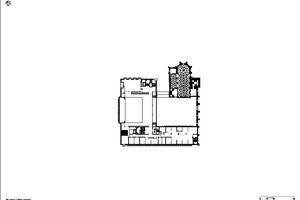 Grundriss Obergeschoss, Maßstab 1:750