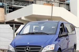 Der Testwagen: Mercedes-Benz Vito Crew 113 CDI. In der Variante mit langem Radstand misst der Vito rund 5 m<br />