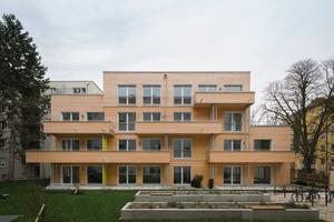 Sonderpreis nachhaltiges Bauen: Erstes innerstädtisches Passivholzhaus in München von Zillerplus Architekten und Stadtplaner aus München und Ambros GmbH aus Hopferau<br />Foto: Florian Holzherr